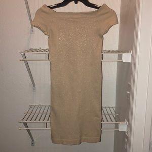 bebe Tan Mini Dress. Size Small